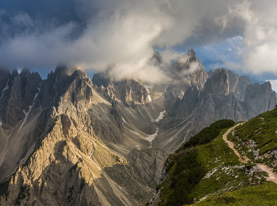 """<a href=""""http://www.hanskrusephotography.com/Workshops/Dolomites-September-9-13-2013/27288954_F322KR#!i=2323758590&k=7PP2qKM&lb=1&s=A"""">See a larger version here</a>  This photo was taken during preparations for photo workshops in the eastern Dolomites July 2011."""