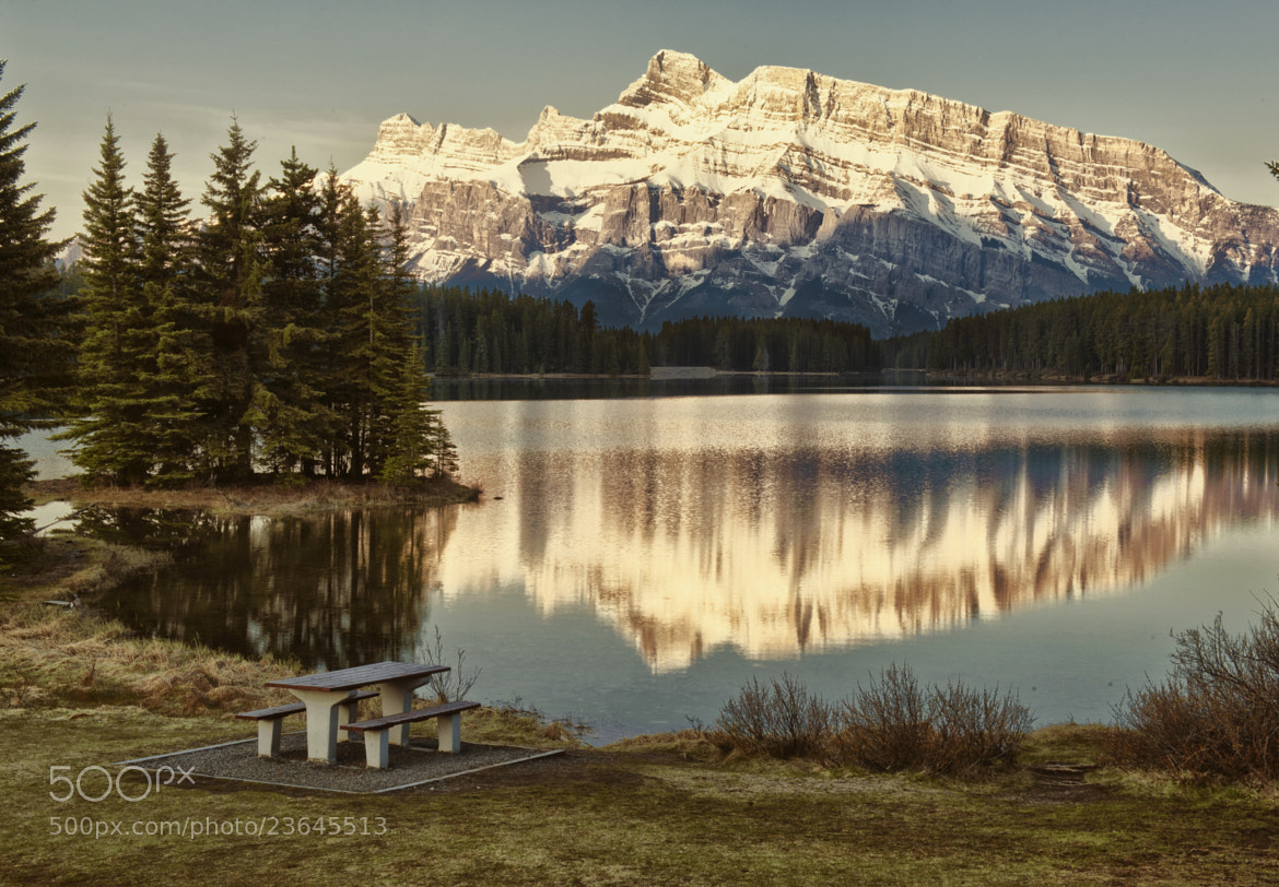 Photograph Two Jack Lake Getaway by Jeff Clow on 500px