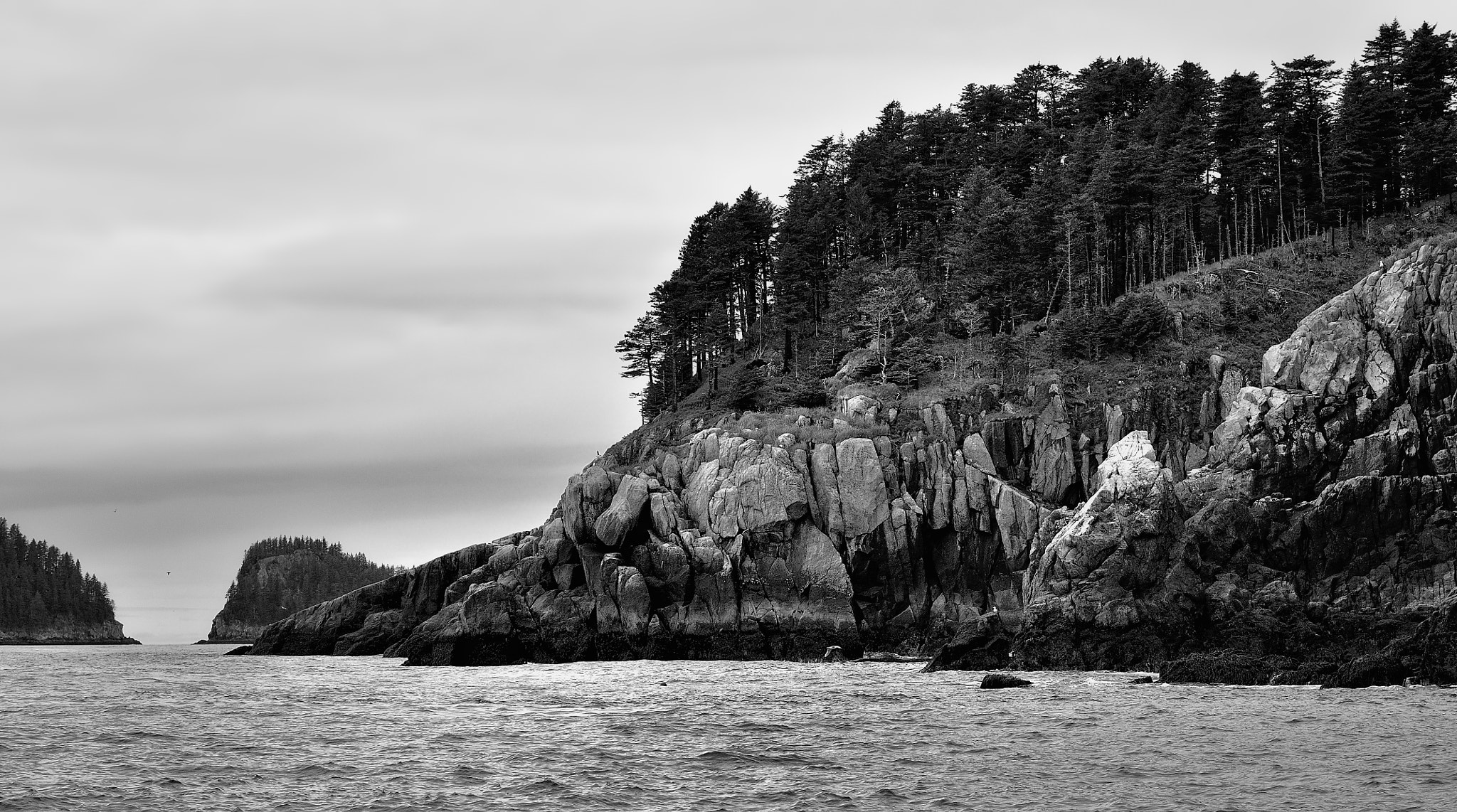 Photograph Black and White of the Alaskan Coastline by Mark Stevens on 500px