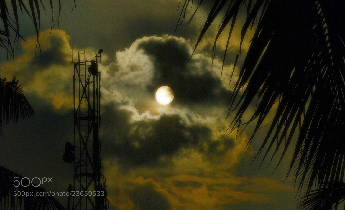 Photograph Sunset or moonrise ? by Ravi S R on 500px