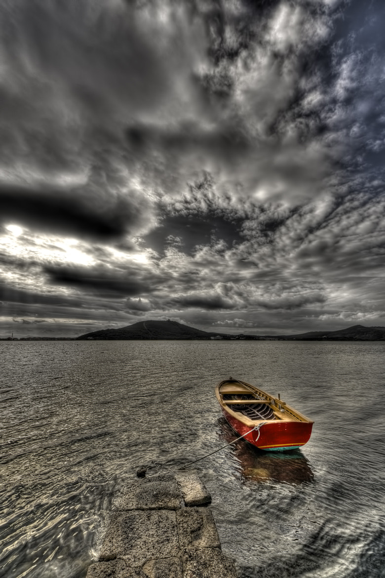 Photograph Lonely red boat, by Hakki Dogan on 500px