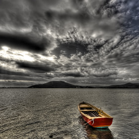 Lonely red boat, by Hakki Dogan (hakkidogan)) on 500px.com