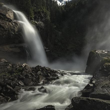 The majestic waterfall of Austria