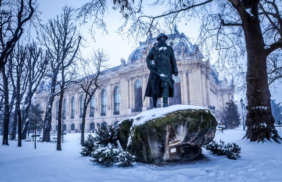 Petit Palais Paris snow 2013
