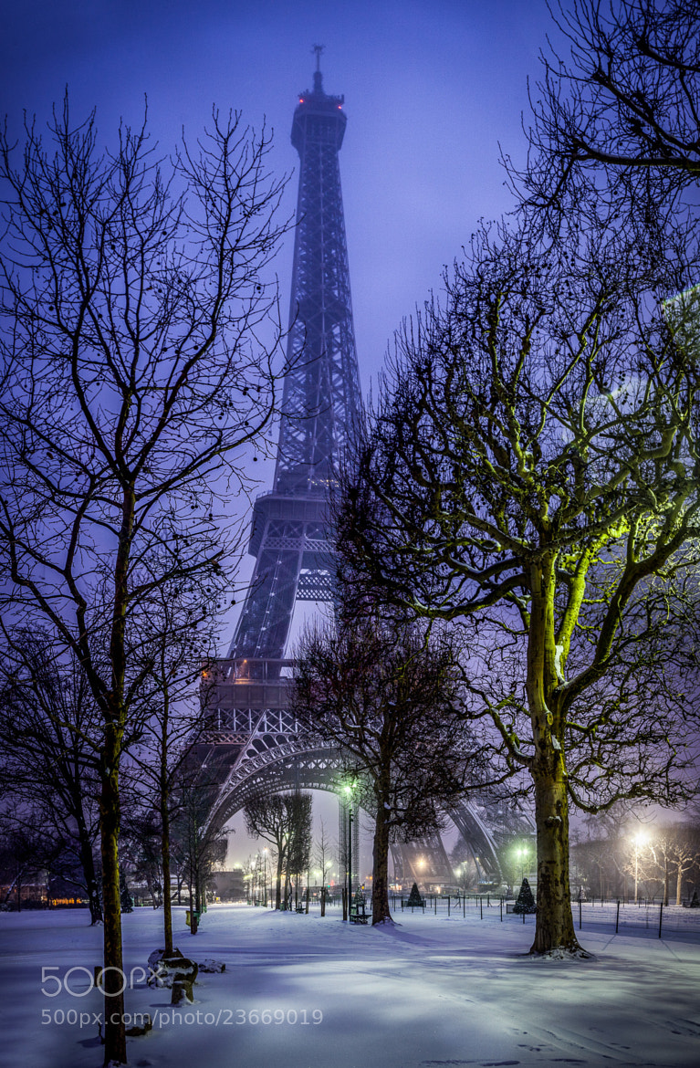 Photograph Eiffel Tower Snow 2013 by Ramelli Serge on 500px