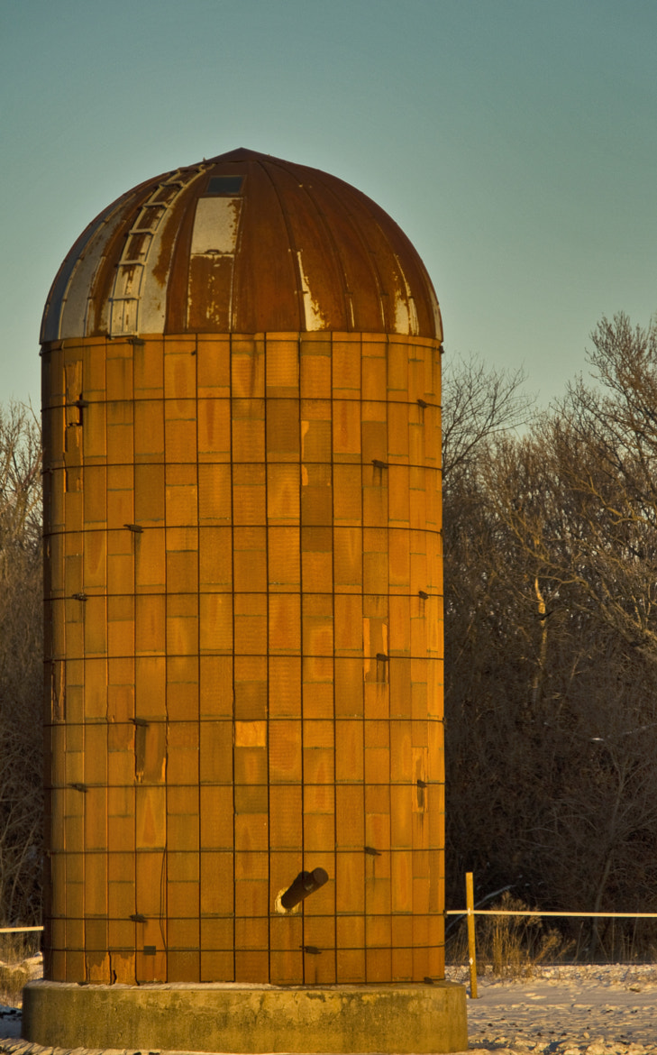 Photograph Orange Silo by Robert Wood on 500px