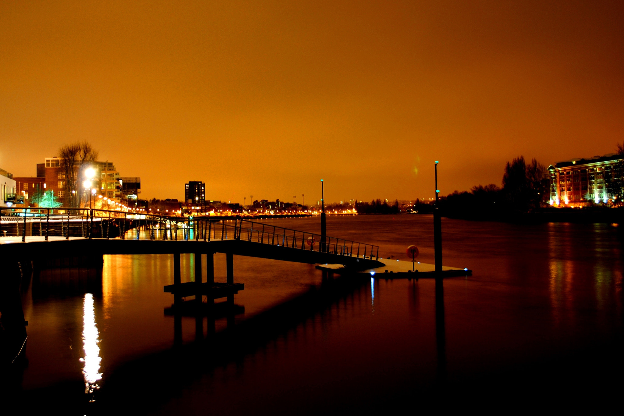 Photograph Lights along the Thames by James Alexander on 500px