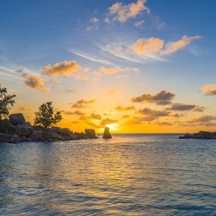 Sunset on Petite Anse, Seychelles