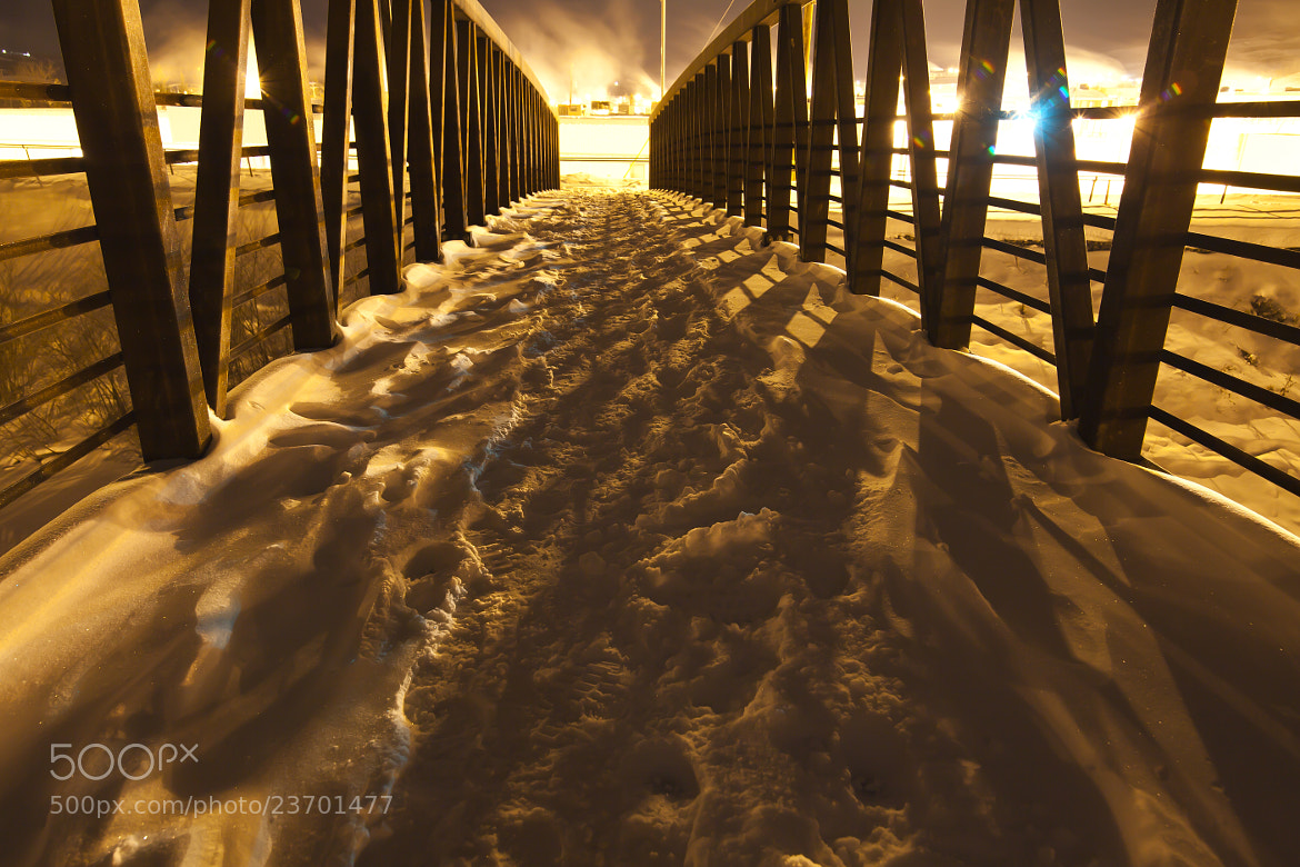 Photograph walking bridge -35c by Paul Lavoie on 500px