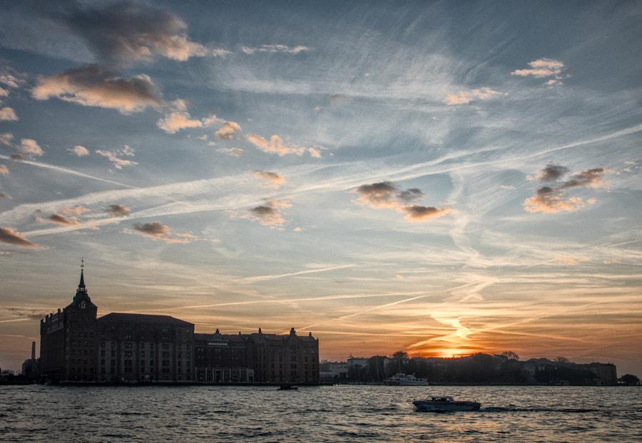 Venice sky at sunset