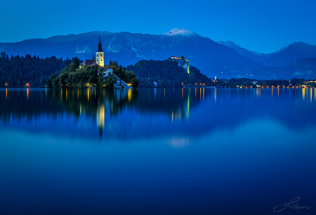 Photograph Bled Blue Hour by Liban Yusuf on 500px