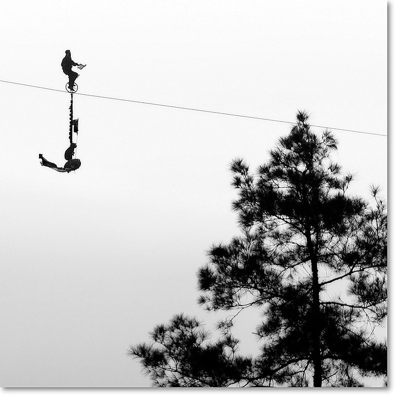 Photograph On the tightrope by Ludmila Espiaube on 500px