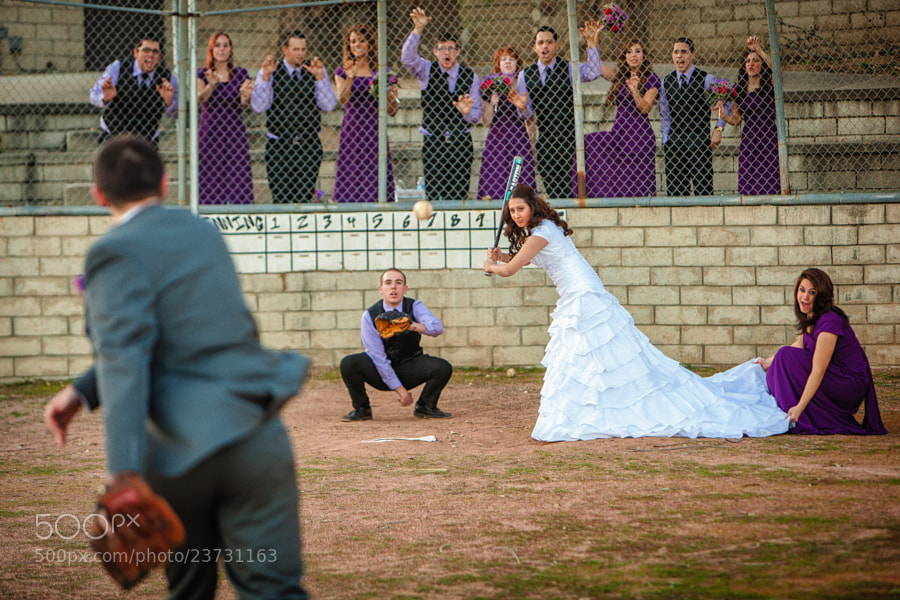 Photograph Bride at Bat by Nathan Worden on 500px