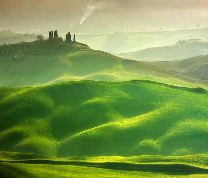 Photograph Tuscan knolls by Marcin Sobas on 500px