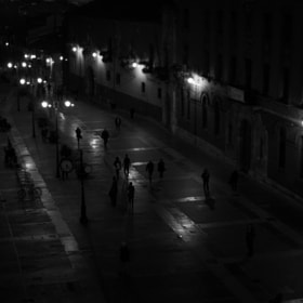 People - Night - Lights