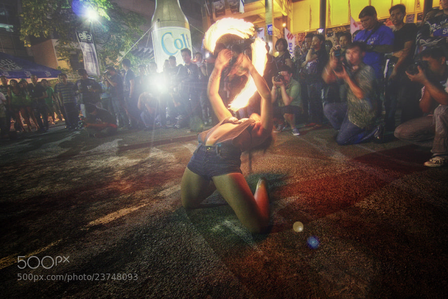 Photograph The Fire Dancer by Junel Mujar on 500px