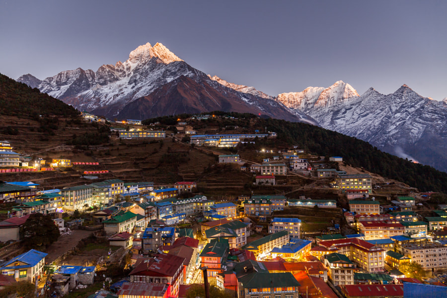 Namche Bazaar, Everest trek, Himalaya, Nepal by Dmitriy Kosmenko on 500px.com