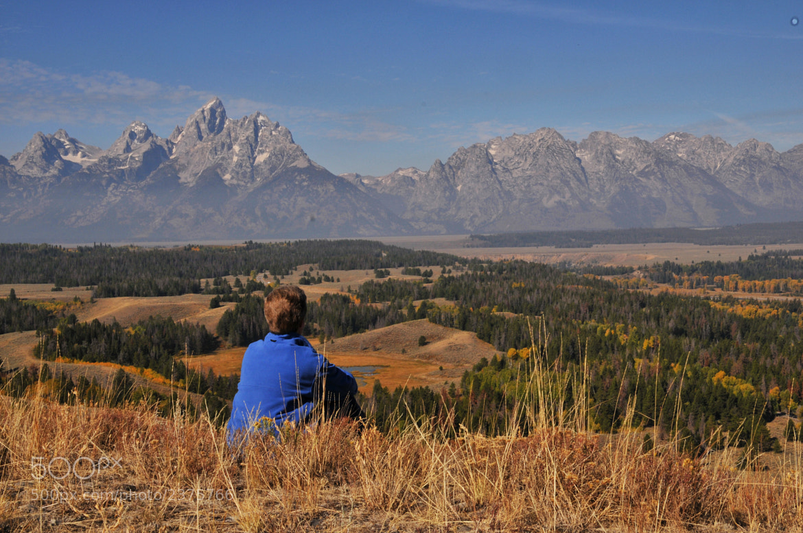 Photograph Taking It All In at the Tetons by Ronnie Wiggin on 500px