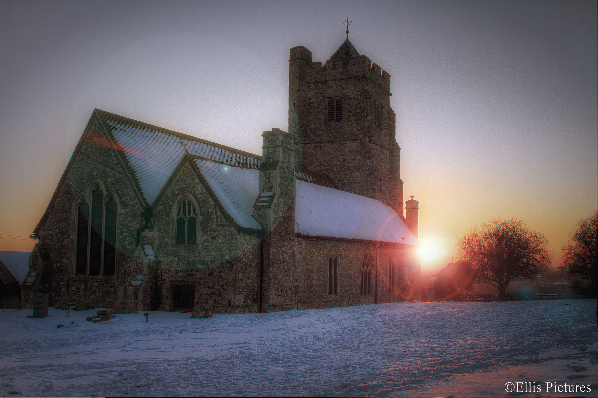 Photograph A Winters Church by Steven Ellis on 500px
