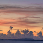 Sunset on from Bachelor Beach. Bonaire