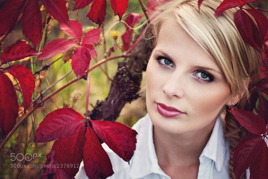 Photograph girl in vineyard by Jana Kvaltinova on 500px