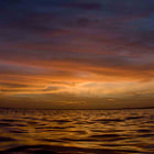 When the sun goes down on the sea is always a magic moment. One day ends and another begins.