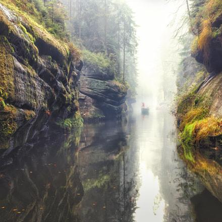 Kamnitz Gorge in Saxon switzerland national park