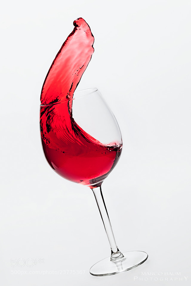 Photograph wine glass action by Marco Baum on 500px