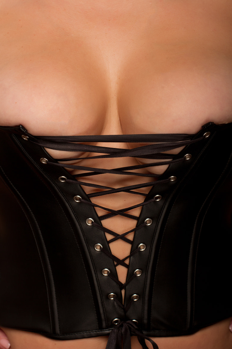 Photograph black corset by Jeff Chandler on 500px