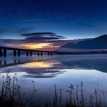 Bridge before sunrise