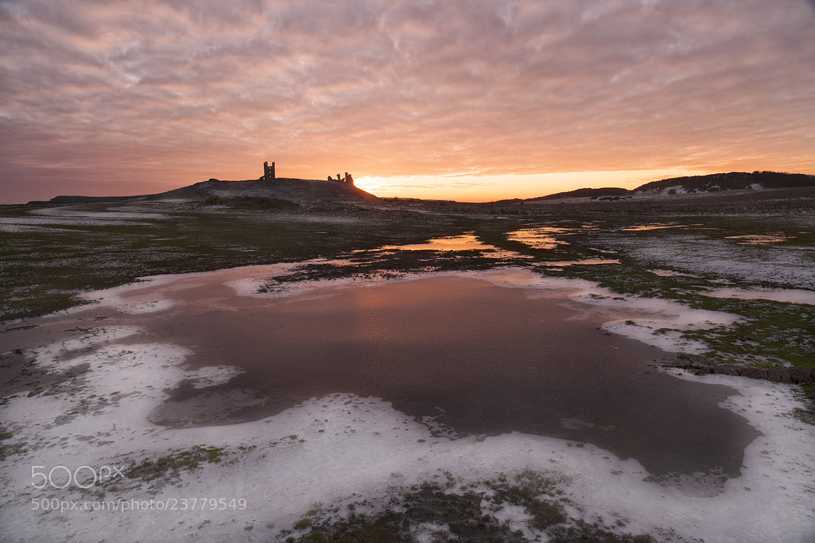 Photograph A Frozen Dunstanburgh Castle by Daniel Hannabuss on 500px