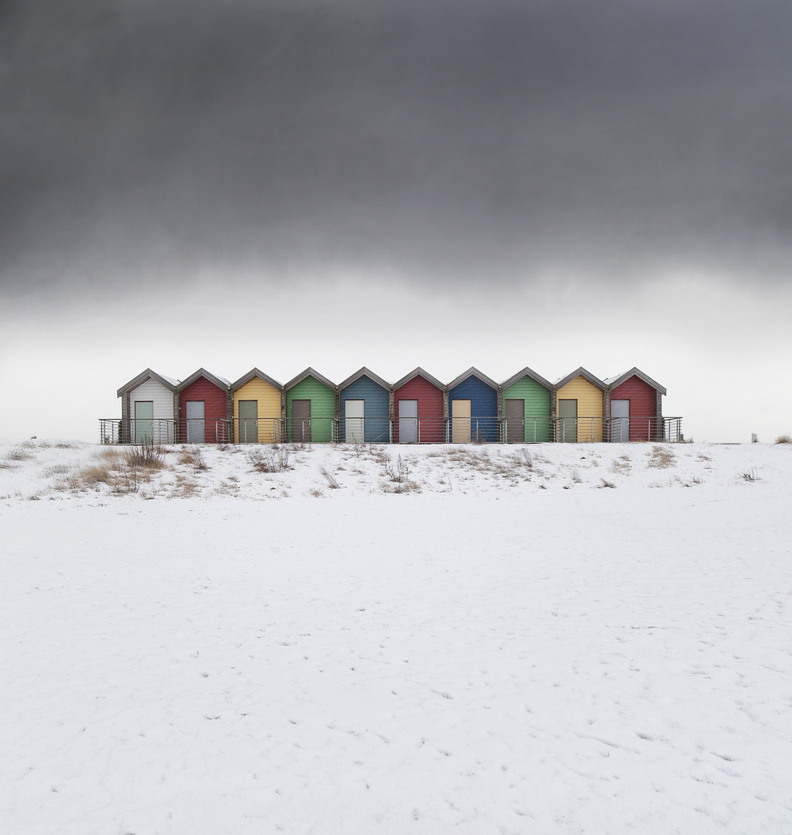 Photograph A Snowy Row by Daniel Hannabuss on 500px