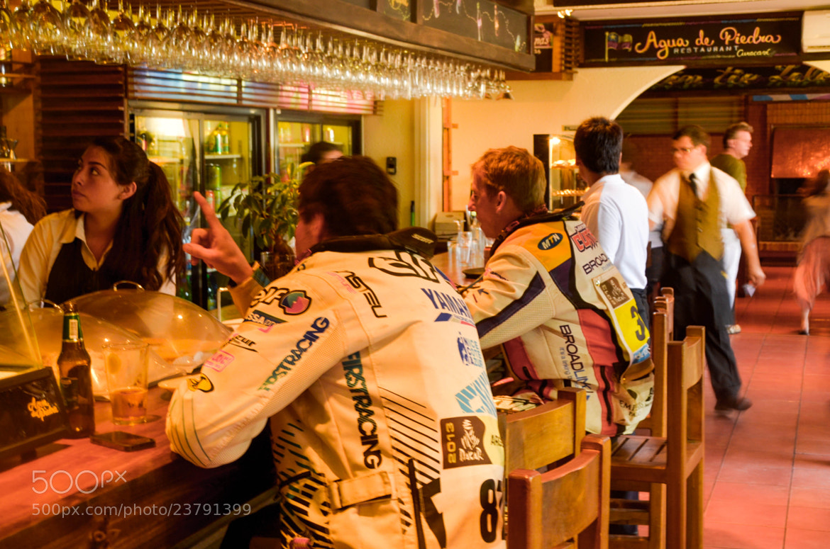 Photograph Dakar pilots at the bar by RICARDO OLGUIN, MD on 500px