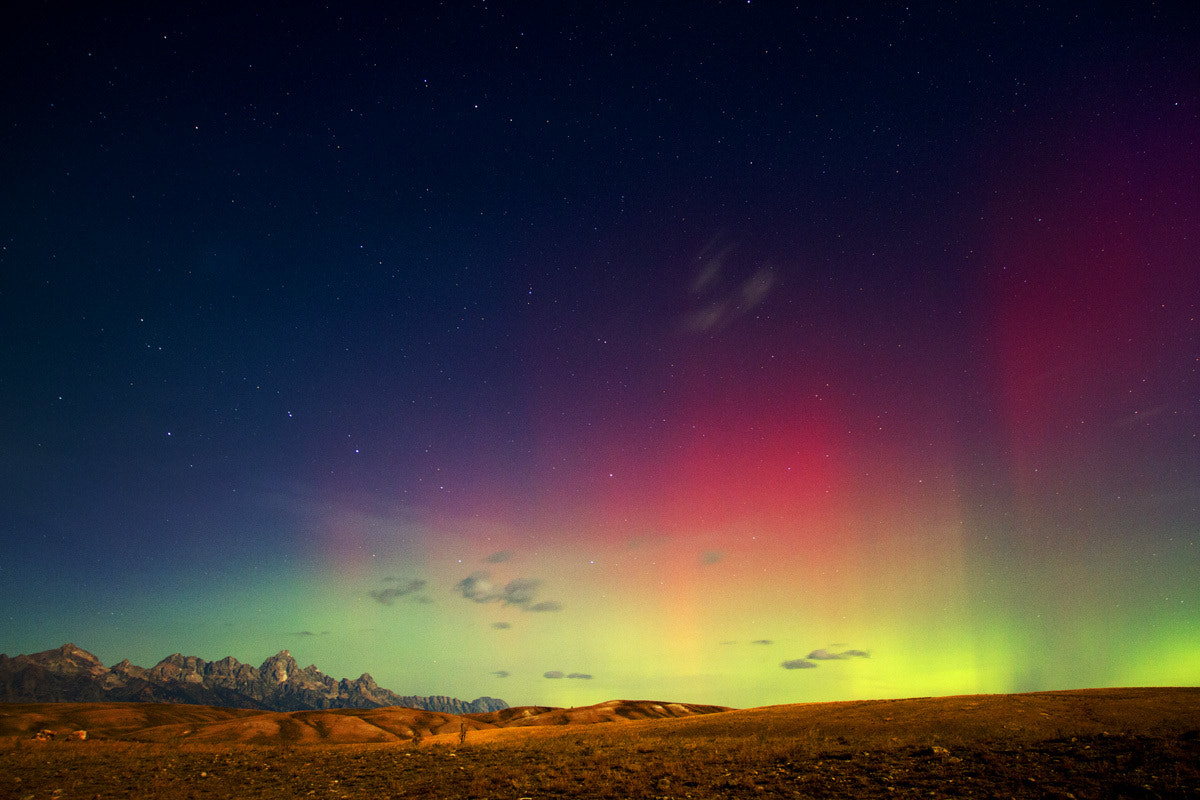 Photograph Northern Lights over Jackson Hole, WY by Tristan Greszko on 500px
