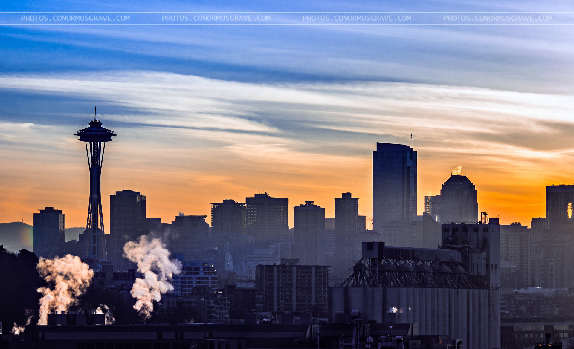 Photograph Space Needle & Industry Sunrise by Conor Musgrave on 500px