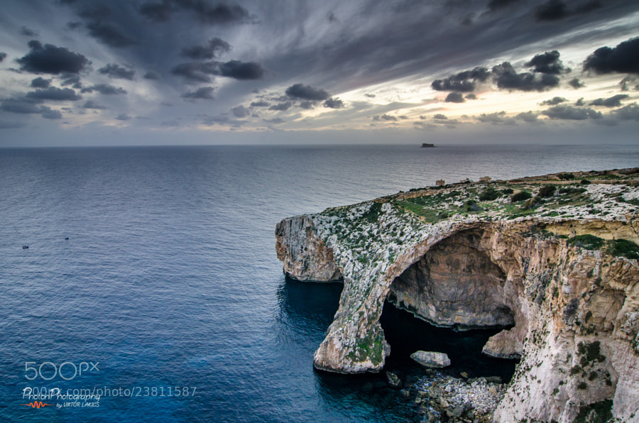 Photograph Blue Grotto, After Sunset by PHOTONPHOTOGRAPHY  - Viktor Lakics on 500px