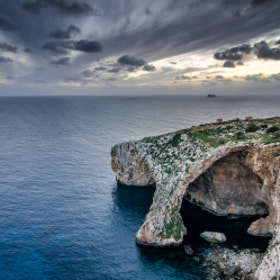 Blue Grotto, After Sunset by PHOTONPHOTOGRAPHY  - Viktor Lakics (PhotonPhotography)) on 500px.com