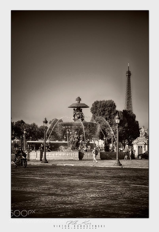 Photograph Place de la Concorde. Paris by Viktor Korostynski on 500px