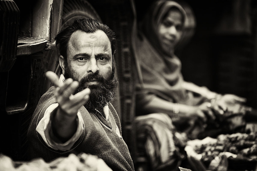 Photograph Portrait of the man, Kolkata by Vitaly Taysaev on 500px