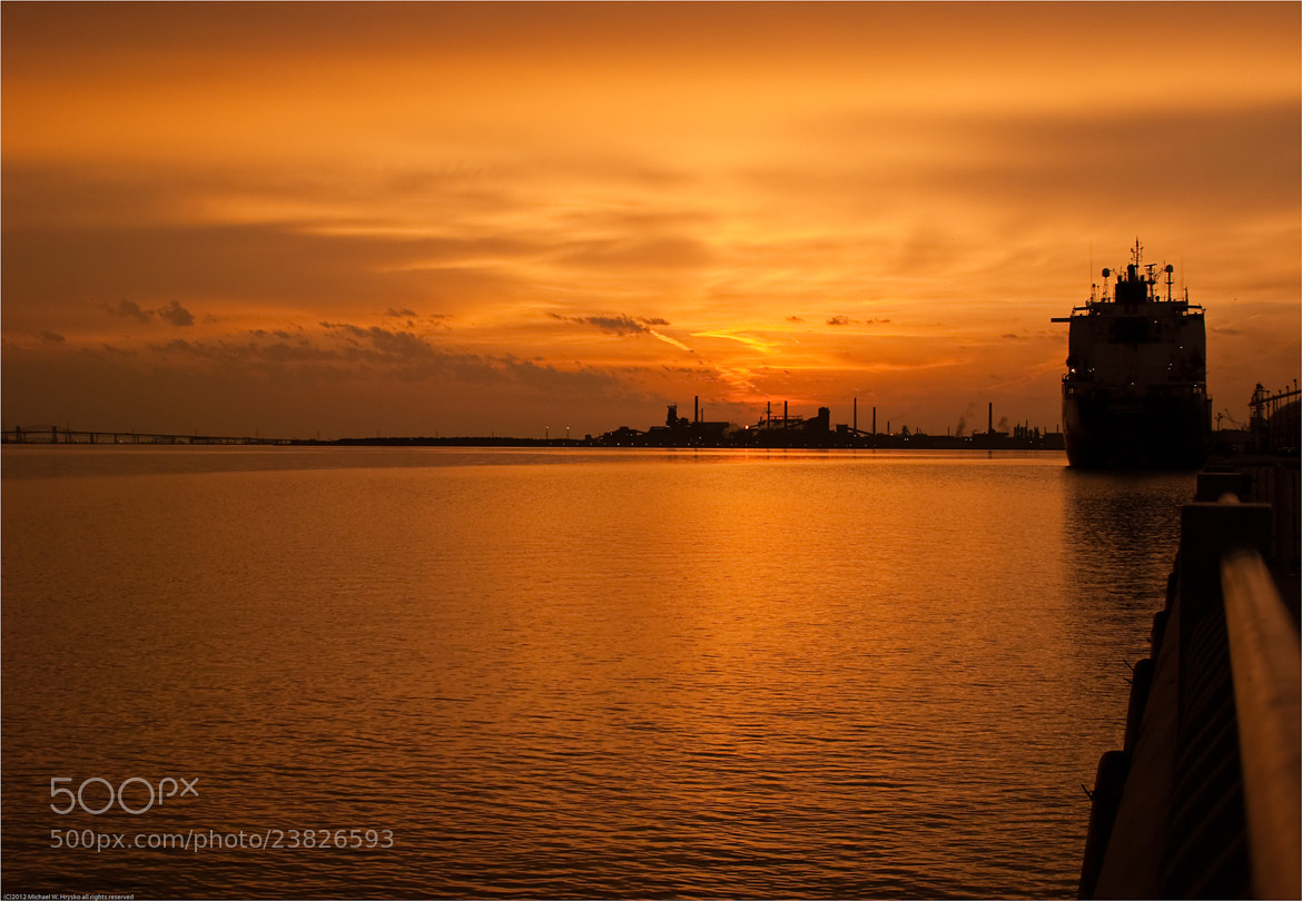 Photograph Industrial Sunrise over Burlington Bay by Michael W Hrysko Photography on 500px