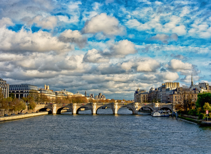 Photograph Sun-bathed Pont Neuf, Paris by Perry Lim on 500px