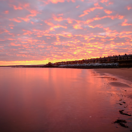 Sunrise along Portobello Beach