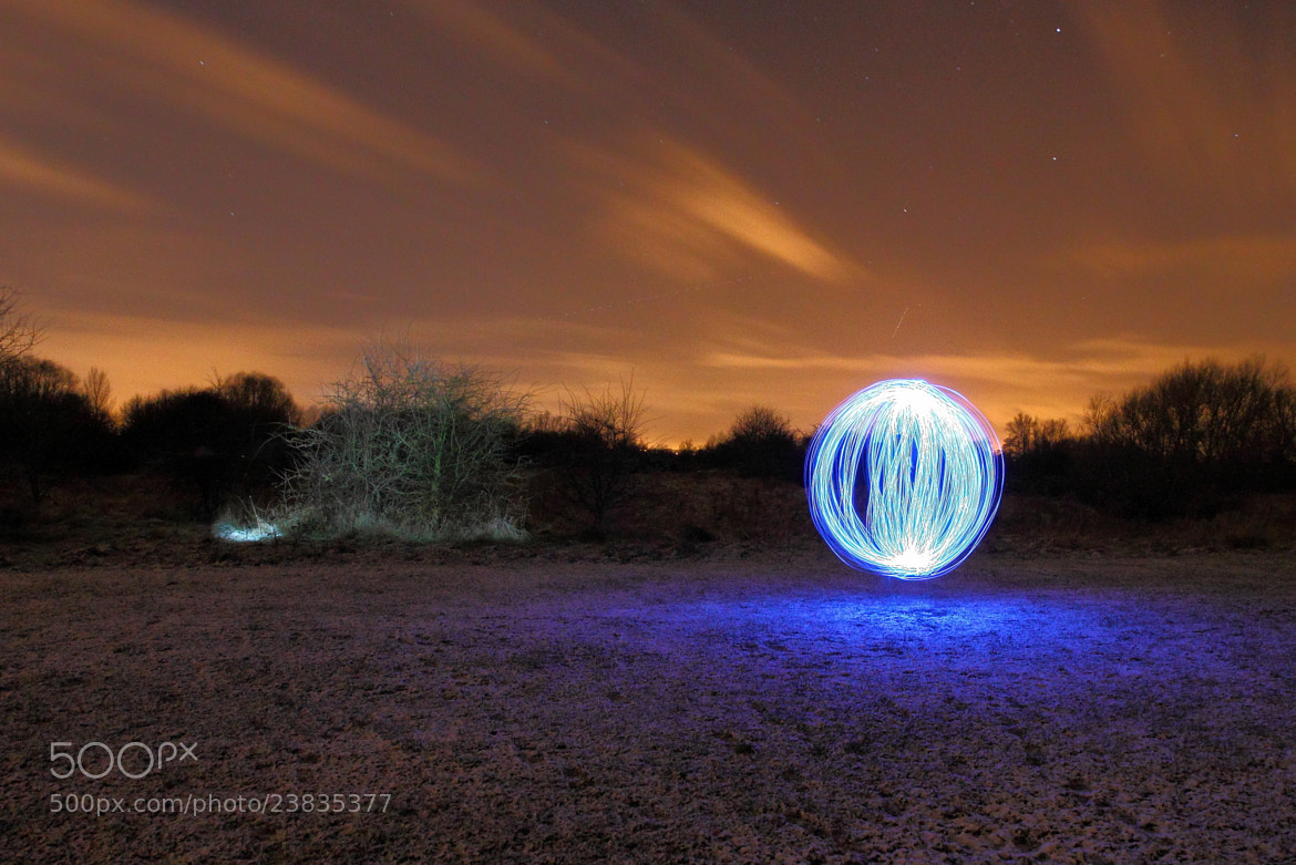 Photograph Light Orb in the snow by Matt Smith on 500px