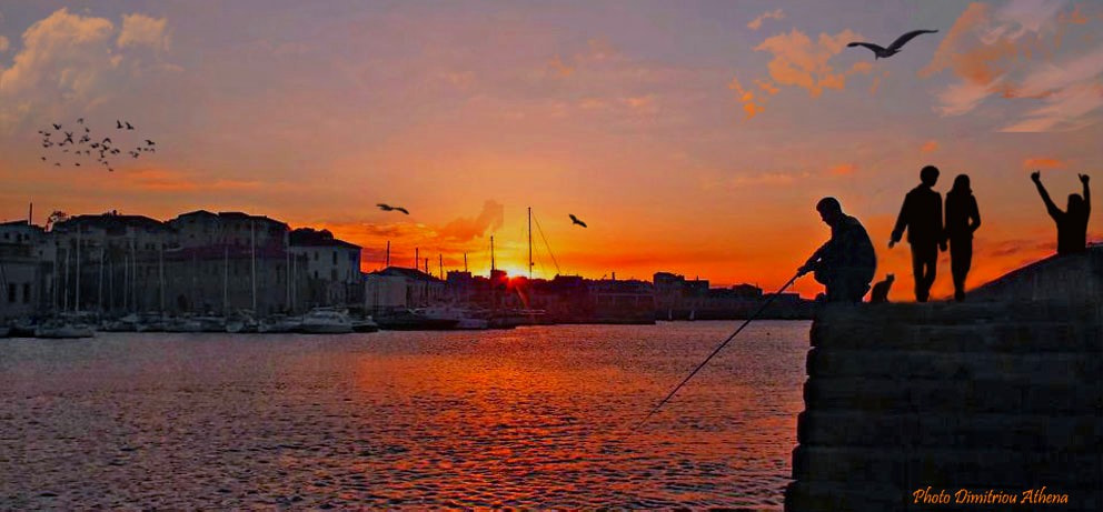 Photograph Old port Chania-Sunset.. by Athena Dimitriou on 500px