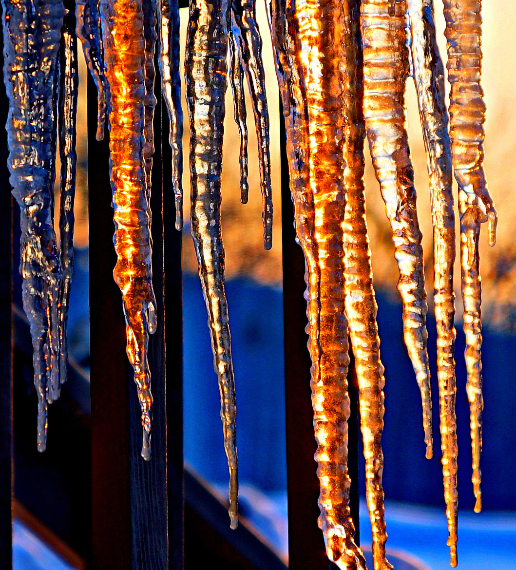 Photograph Sunset Flavored Icicles by Imageination on 500px