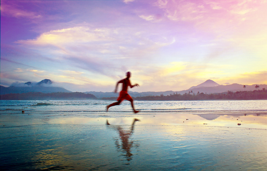 Photograph run sunset run by angrie mkw on 500px