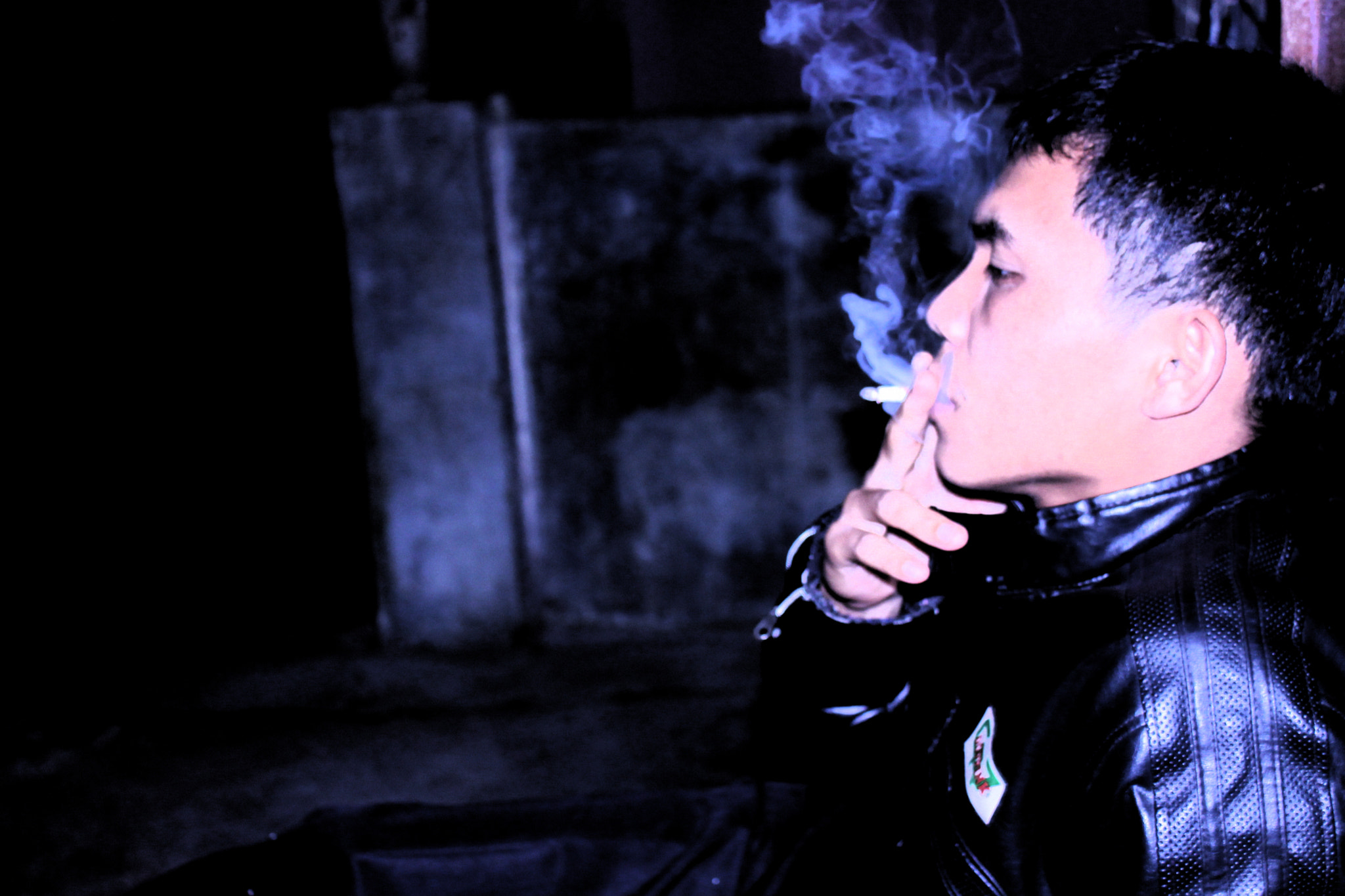 Photograph Smoking In The Dark by Sastra Nababan on 500px
