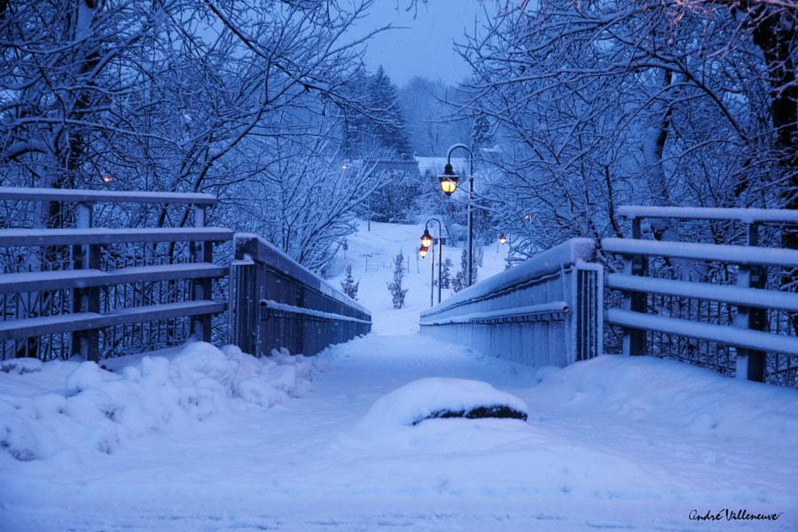 Pont de neige, автор — Andre Villeneuve на 500px.com