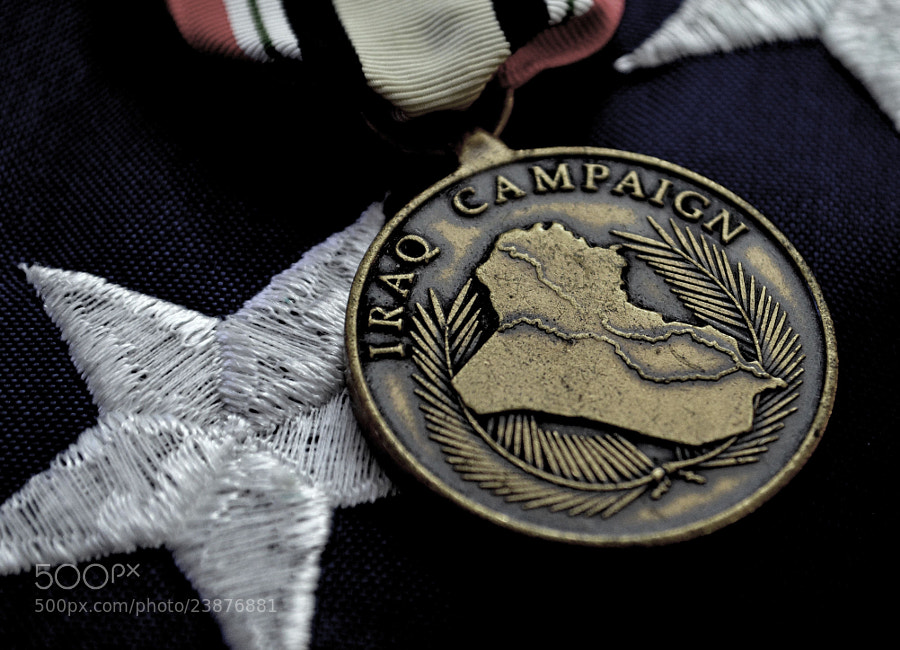 Photograph Iraq Campaign Medal on American Flag by Chris Reese on 500px