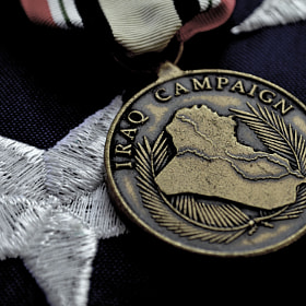 Iraq Campaign Medal on American Flag by Chris Reese (chrisreese)) on 500px.com